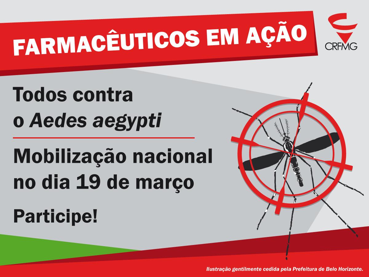 Farmacêuticos realizam amanhã (19) mobilização nacional sobre combate ao Aedes aegypti